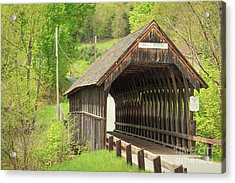 Acrylic Print featuring the photograph Mill Bridge Meriden New Hampshire by Edward Fielding