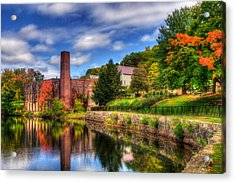 Mill Building - Autumn In Laconia Nh Acrylic Print by Joann Vitali