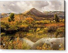 Mill Canyon Peak Reflections Acrylic Print