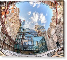 Mill City Museum Wide Angle View Acrylic Print by Jim Hughes