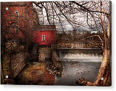 Mill - Clinton Nj - The Mill And Wheel Acrylic Print by Mike Savad