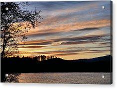 Mill Creek Lake Sun Set Acrylic Print by Todd Hostetter