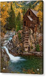 Mill In The Mountains Acrylic Print by Darren White