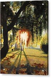 Mill Lake At Sunset Acrylic Print by Vivian  Mosley