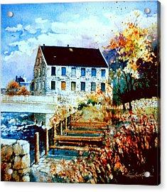 Mill Race Park Acrylic Print by Hanne Lore Koehler