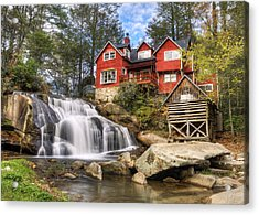 Mill Shoals Falls - Wnc Blue Ridge Waterfalls Acrylic Print by Dave Allen