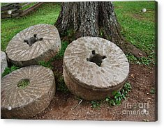 Mill Stone Acrylic Print by Eric Liller