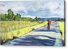 Mill Valley Bike Path Acrylic Print by Colleen Proppe