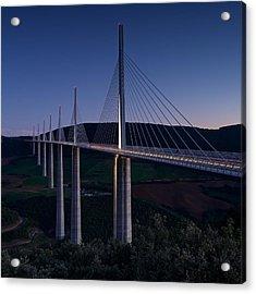 Millau Viaduct At Dusk Acrylic Print
