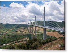Millau Viaduct Acrylic Print by Rod Jones