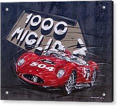 Mille Miglia Maserati Acrylic Print