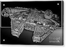 Millennium Falcon Attack Acrylic Print