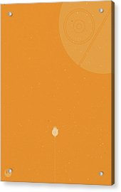 Millennium Falcon Meets Death Star Acrylic Print by Samuel Whitton