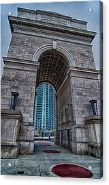Millennium Gate Triumphal Arch At Atlantic Station In Midtown At Acrylic Print by Alex Grichenko