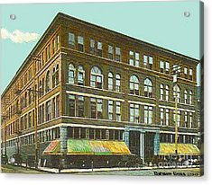 Miller Bros. Department Store In Chattanooga Tn In 1910 Acrylic Print by Dwight Goss