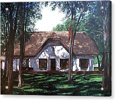 Acrylic Print featuring the painting Miller Homestead by Tom Roderick
