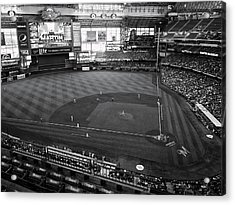 Miller Park - Milwaukee - Wisconsin Black And White Acrylic Print