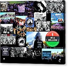 Million Man March Montage Acrylic Print