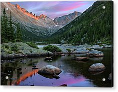 Mills Lake And The Keyboard Of The Winds By Thomas Schoeller Acrylic Print
