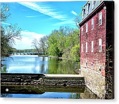 Millstone River View Acrylic Print by John Rizzuto