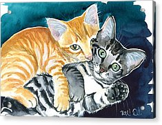 Milo And Tigger - Cute Kitty Painting Acrylic Print