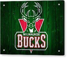 Milwaukee Bucks Barn Door Acrylic Print