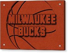 Milwaukee Bucks Leather Art Acrylic Print by Joe Hamilton