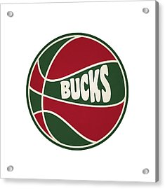 Milwaukee Bucks Retro Shirt Acrylic Print