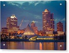 Milwaukee Skyline At Dark Acrylic Print