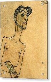 Mime Van Osen Acrylic Print by Egon Schiele