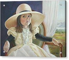Mimi's Hat Acrylic Print by JoAnne Castelli-Castor