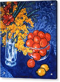 Mimosa And Tangerines Acrylic Print by Paul Herman