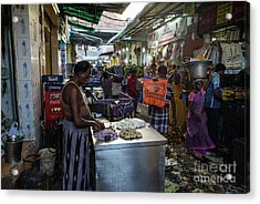 Acrylic Print featuring the photograph Mincing Garlic by Mike Reid