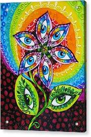 Mind Eyes Acrylic Print by Gabriela Stavar