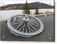 Mine Shaft Wheel Acrylic Print by Richard Mitchell