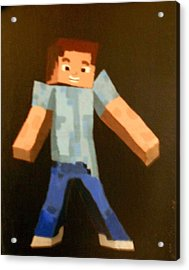Minecraft Steve Acrylic Print by Sheri Keith via Jayd