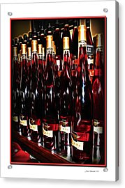 Acrylic Print featuring the photograph Miner Pink Sparkling Wine by Joan  Minchak
