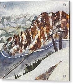 Mineral Basin At Snowbird Utah Acrylic Print by Lynne Bolwell