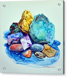 Minerals And Beachstones Acrylic Print