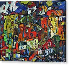 Miners' Little Town Acrylic Print by Ivan Filichev