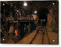 Miner's Toolshed Acrylic Print by Mike Flynn