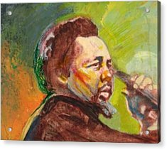 Mingus Acrylic Print by Michael Facey