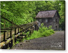 Acrylic Print featuring the photograph Mingus Mill 2 Mingus Creek Great Smoky Mountains Art by Reid Callaway