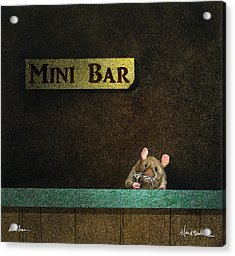 Acrylic Print featuring the painting Mini Bar... by Will Bullas