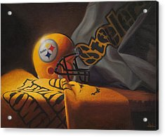 Mini Helmet Commemorative Edition Acrylic Print by Joe Winkler
