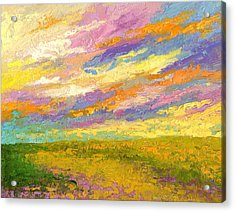 Mini Landscape V Acrylic Print by Marion Rose