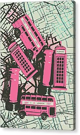 Miniature London Town Acrylic Print