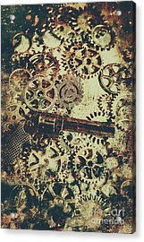 Miniature Old Western Pistol Acrylic Print by Jorgo Photography - Wall Art Gallery