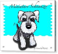 Miniature Schnauzer Acrylic Print