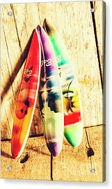 Miniature Surfboard Decorations Acrylic Print by Jorgo Photography - Wall Art Gallery